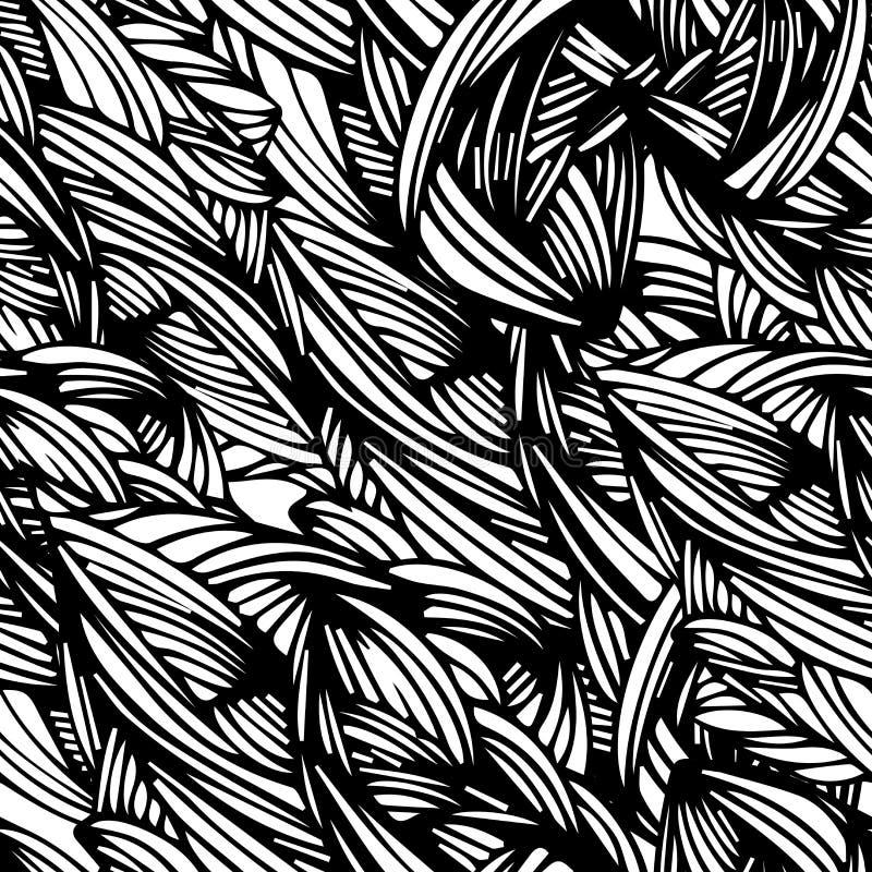 Άνευ ραφής πρότυπο με το φύλλο χειροποίητος Μπορείτε να αλλάξετε το υπόβαθρο Μπορεί να χρησιμοποιηθεί για την εκτύπωση στο ύφασμα διανυσματική απεικόνιση