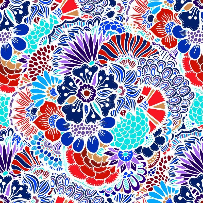 Άνευ ραφής πρότυπο λουλουδιών απεικόνιση αποθεμάτων