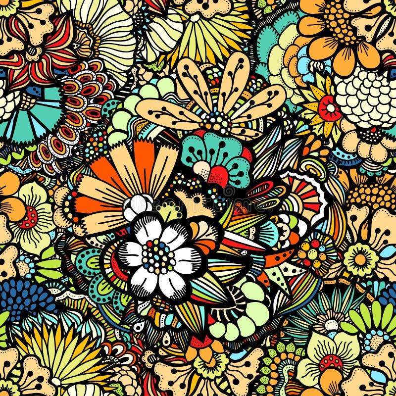 Άνευ ραφής πρότυπο λουλουδιών διανυσματική απεικόνιση