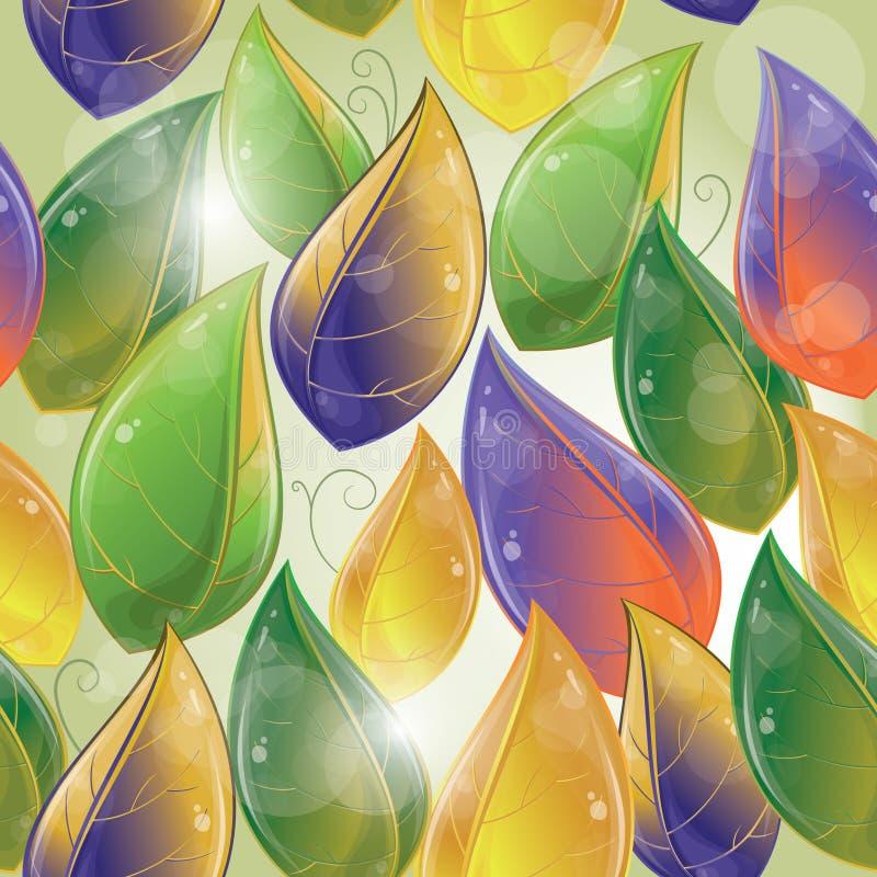Άνευ ραφής πρότυπο - φθινοπωρινά φύλλα απεικόνιση αποθεμάτων