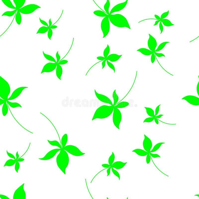 Άνευ ραφής πρότυπο φθινοπώρου με τα φύλλα Κάρτα με τις τυπωμένες ύλες φύλλων Φύλλα των δέντρων ελεύθερη απεικόνιση δικαιώματος