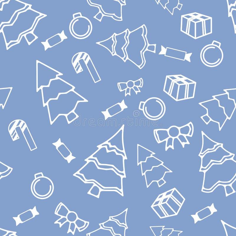 Άνευ ραφής πρότυπο χειμερινών διακοπών απεικόνιση αποθεμάτων