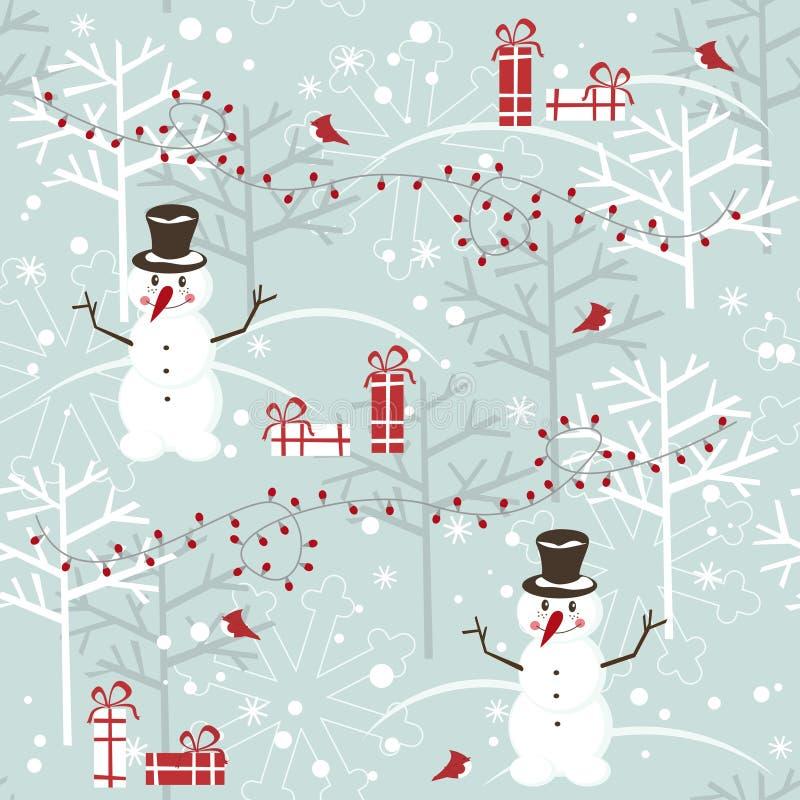 Άνευ ραφής πρότυπο Χριστουγέννων ελεύθερη απεικόνιση δικαιώματος