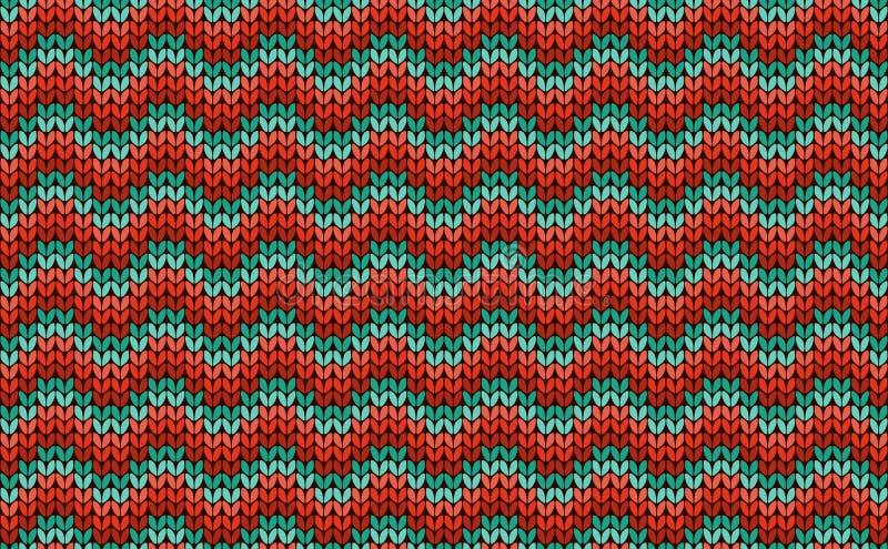 Άνευ ραφής πλέκοντας ζωηρόχρωμο σχέδιο τρεκλίσματος απεικόνιση αποθεμάτων