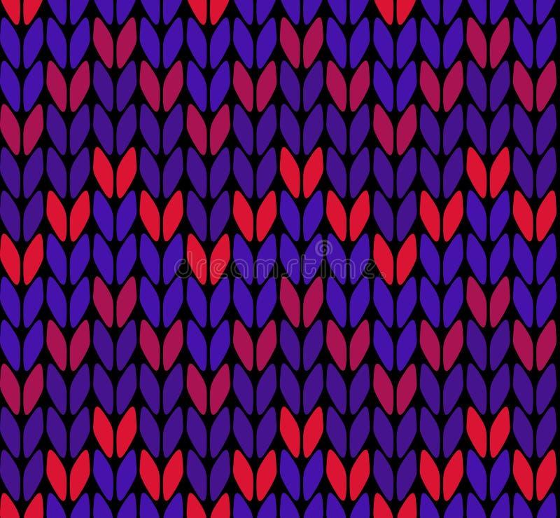 Άνευ ραφής πλέκοντας zigzak σχέδιο διανυσματική απεικόνιση