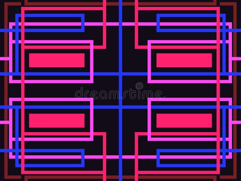 άνευ ραφής ριγωτός προτύπων αφηρημένη ανασκόπηση γεωμ&epsil Πορφυρό, μπλε και κόκκινο χρώμα διάνυσμα ελεύθερη απεικόνιση δικαιώματος