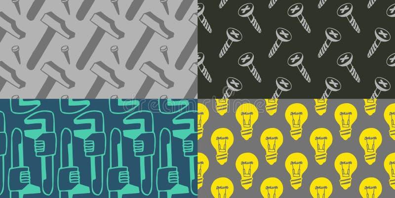 Άνευ ραφής σχέδια - εργαλεία διανυσματική απεικόνιση