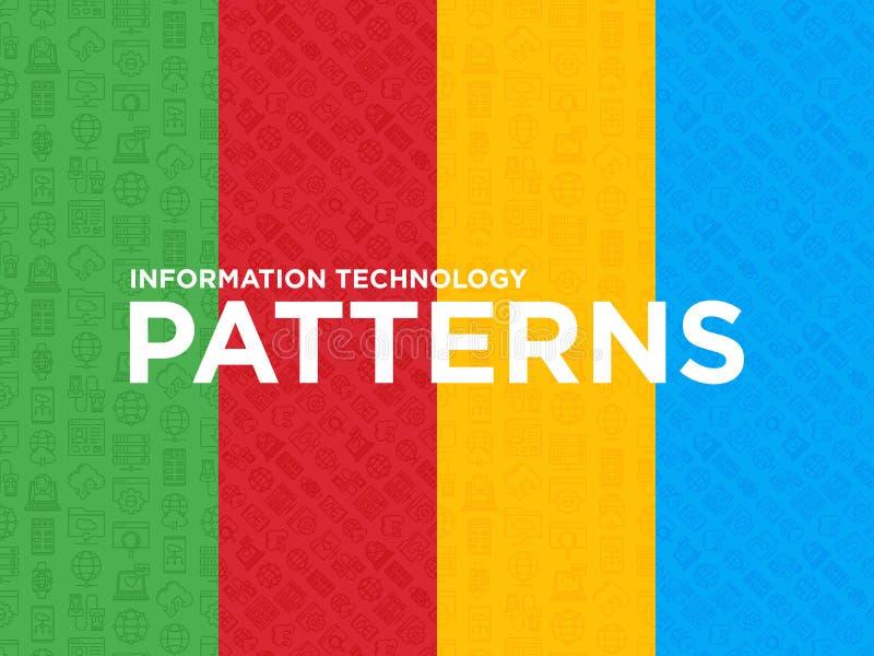 Άνευ ραφής σχέδια τεχνολογίας πληροφοριών ελεύθερη απεικόνιση δικαιώματος