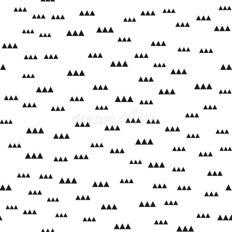 Άνευ ραφής σχέδια της Μέμφιδας με τις γεωμετρικές μορφές Ένας Μαύρος χρώματος στο λευκό επίσης corel σύρετε το διάνυσμα απεικόνισ ελεύθερη απεικόνιση δικαιώματος
