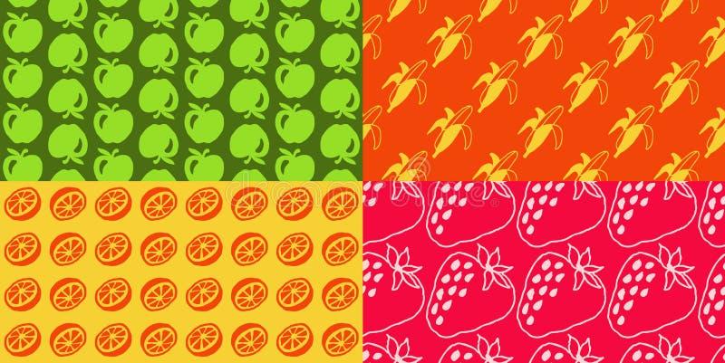 Άνευ ραφής σχέδια - φρούτα απεικόνιση αποθεμάτων