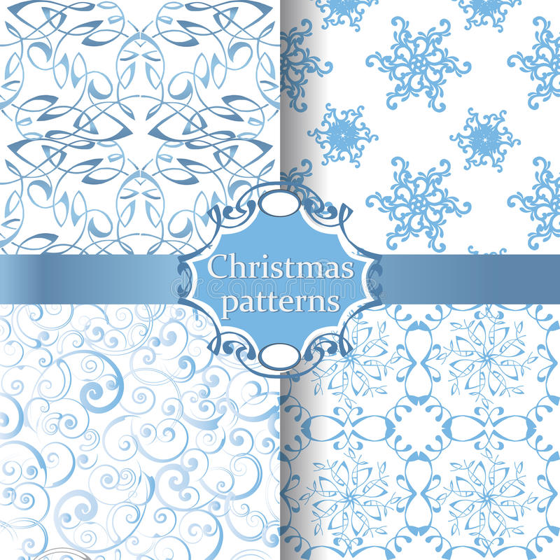 Άνευ ραφής σχέδια Χριστουγέννων συλλογής απεικόνιση αποθεμάτων