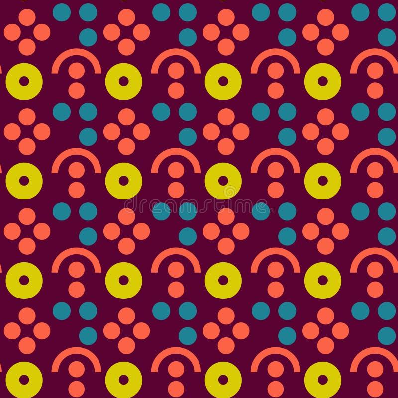 Άνευ ραφής σχέδιο αγροτικής συμμετρίας μούρων διανυσματική απεικόνιση