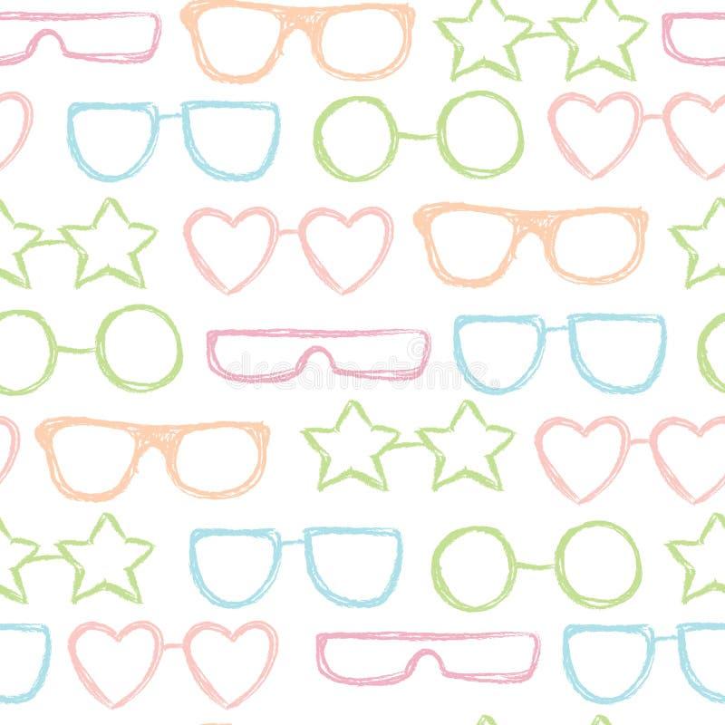 Άνευ ραφής σχέδιο γυαλιών ηλίου ελεύθερη απεικόνιση δικαιώματος