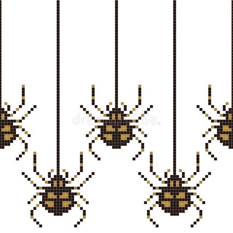 Άνευ ραφής σχέδιο εικονοκυττάρου με την οκτάμπιτη αράχνη r απεικόνιση αποθεμάτων