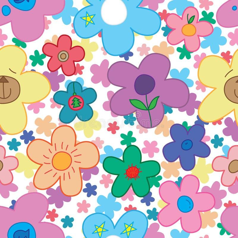 Άνευ ραφής σχέδιο εσωτερικών λουλουδιών zen ελεύθερη απεικόνιση δικαιώματος