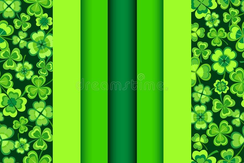 Άνευ ραφής σχέδιο ημέρας Patricks με το τριφύλλι απεικόνιση αποθεμάτων