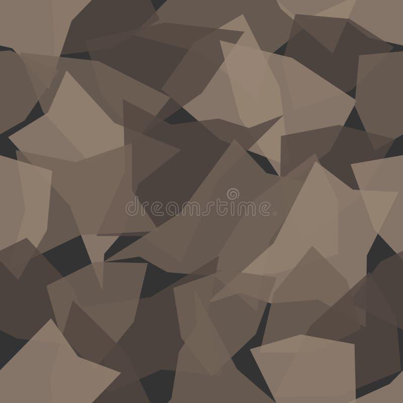 Άνευ ραφής σχέδιο κάλυψης σύστασης στρατιωτικό Αφηρημένη διανυσματική απεικόνιση στρατού ελεύθερη απεικόνιση δικαιώματος