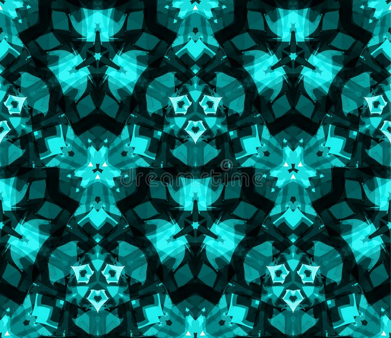 Άνευ ραφής σχέδιο καλειδοσκόπιων, υπόβαθρο, που αποτελείται από τις αφηρημένες μορφές στο κιρκίρι διανυσματική απεικόνιση
