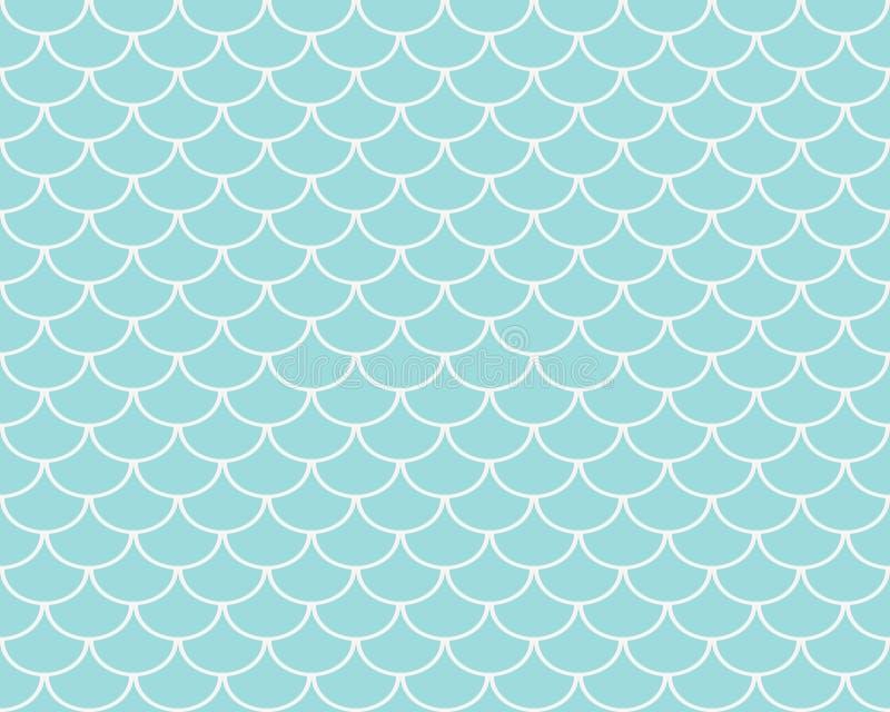 Άνευ ραφής σχέδιο κλιμάκων ψαριών διανυσματική απεικόνιση
