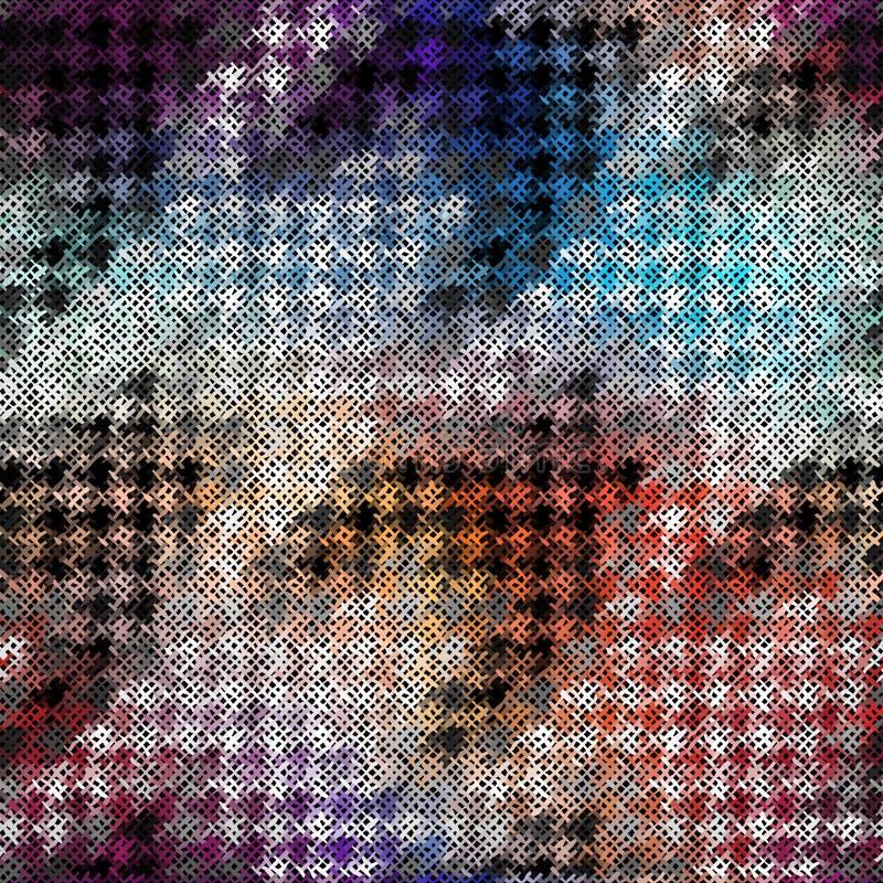Άνευ ραφής σχέδιο κυνηγόσκυλο-δοντιών απεικόνιση αποθεμάτων
