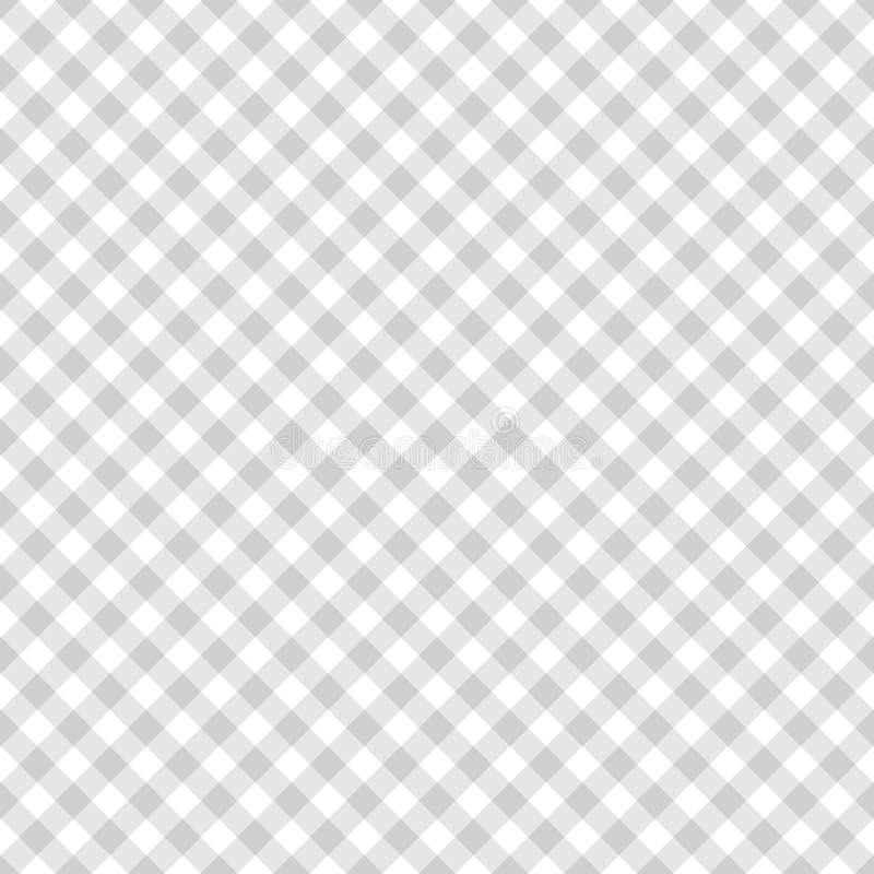 Άνευ ραφής σχέδιο λωρίδων στα γκρίζα και άσπρα χρώματα Γεωμετρικό λωρίδα σχεδίων με τις διαγώνιες γραμμές r ελεύθερη απεικόνιση δικαιώματος