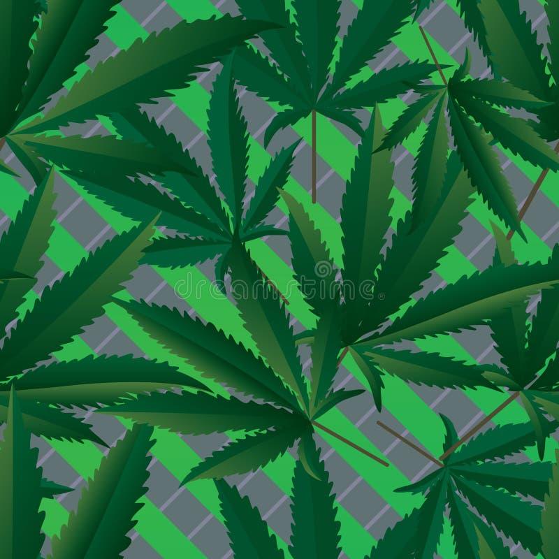 Άνευ ραφής σχέδιο μαριχουάνα διανυσματική απεικόνιση