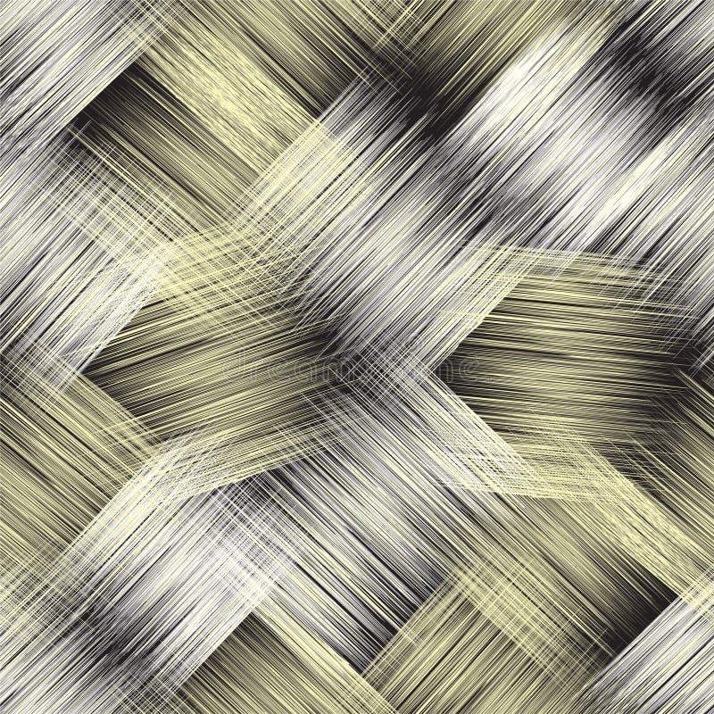 Άνευ ραφής σχέδιο με τα διαγώνια ριγωτά κομμένα στοιχεία grunge για το σχέδιο Ιστού διανυσματική απεικόνιση