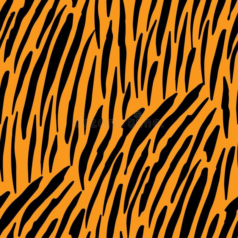 Άνευ ραφής σχέδιο με τα λωρίδες τιγρών Ζωική τυπωμένη ύλη ελεύθερη απεικόνιση δικαιώματος