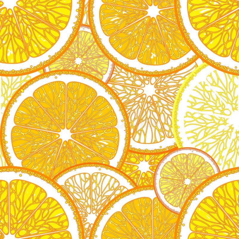 Άνευ ραφής σχέδιο με τα πορτοκάλια απεικόνιση αποθεμάτων