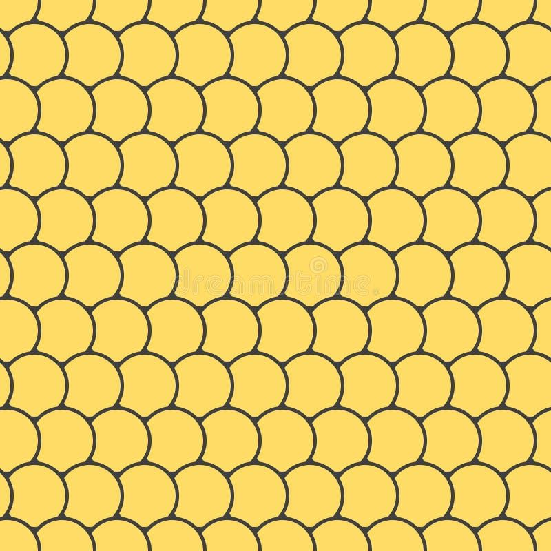 Άνευ ραφής σχέδιο με τα στρογγυλά κεραμίδια διανυσματική απεικόνιση