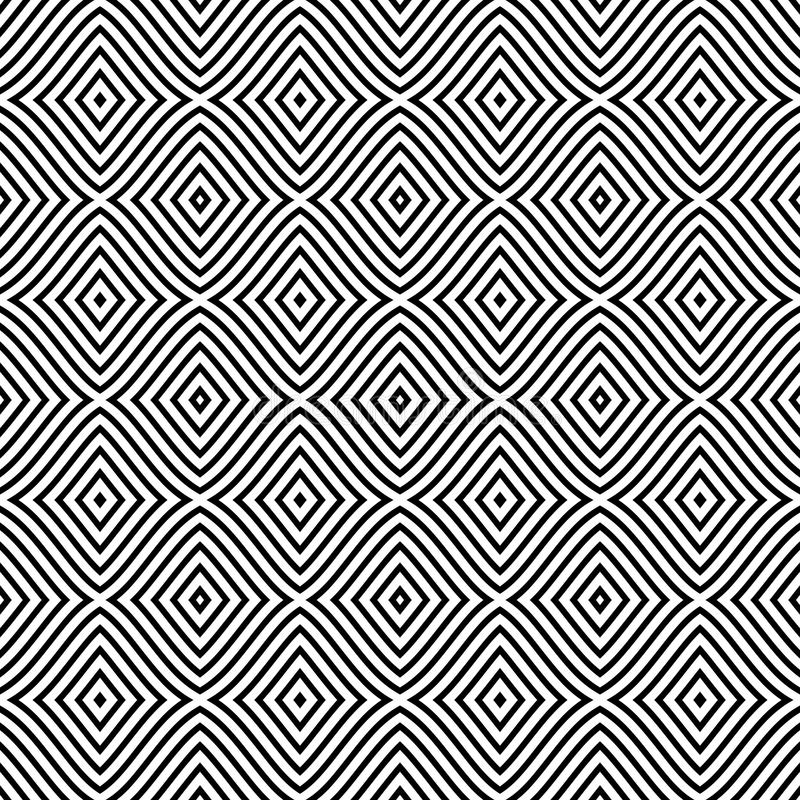 Άνευ ραφής σχέδιο με τα rhombuses, λωρίδες, γραμμές Επαναλαμβανόμενο σχέδιο για το ντεκόρ, ύφασμα, τάπητας, περικάλυμμα ελεύθερη απεικόνιση δικαιώματος