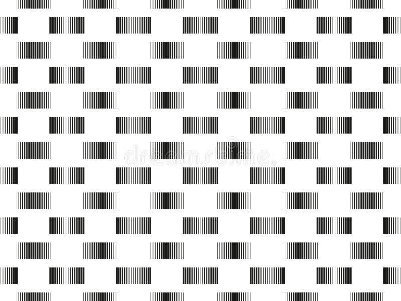 Άνευ ραφής σχέδιο με τις γδυμένες γραμμές στο διαφορετικό πάχος, ABS απεικόνιση αποθεμάτων