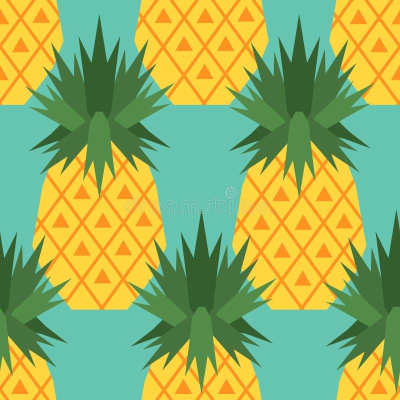 Άνευ ραφής σχέδιο με τους ανανάδες διανυσματική απεικόνιση