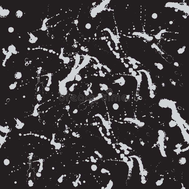Άνευ ραφής σχέδιο με τους ελαφριούς παφλασμούς απομονωμένο στο σκοτάδι υπόβαθρο Αφηρημένη διανυσματική απεικόνιση για τα σχέδια,  ελεύθερη απεικόνιση δικαιώματος