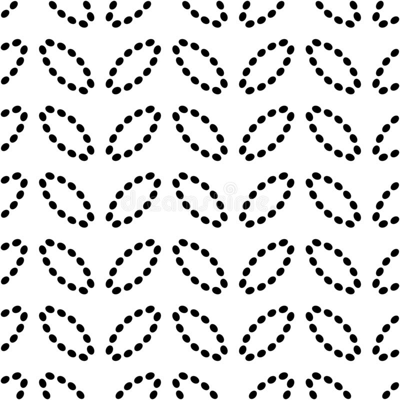 Άνευ ραφής σχέδιο με ovals των διαστιγμένων γραμμών Διανυσματικό υπόβαθρο σε γραπτό διανυσματική απεικόνιση