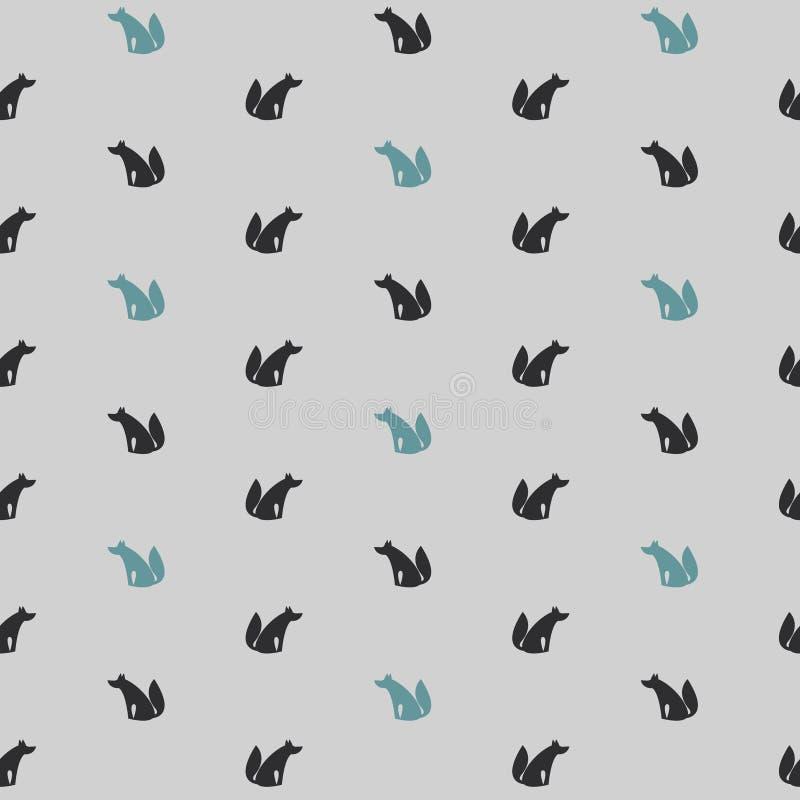 Άνευ ραφής σχέδιο με Wolfs απεικόνιση αποθεμάτων