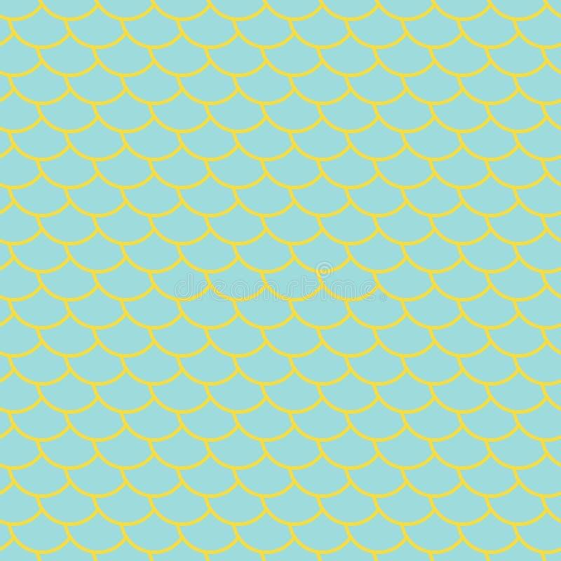Άνευ ραφής σχέδιο ουρών γοργόνων νεράιδων απεικόνιση αποθεμάτων
