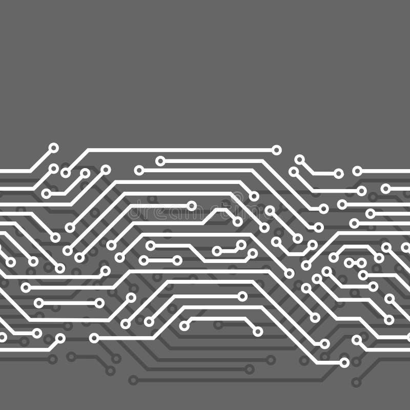 Άνευ ραφής σχέδιο πινάκων κυκλωμάτων Υπόβαθρο των στοιχείων μικροτσίπ ελεύθερη απεικόνιση δικαιώματος