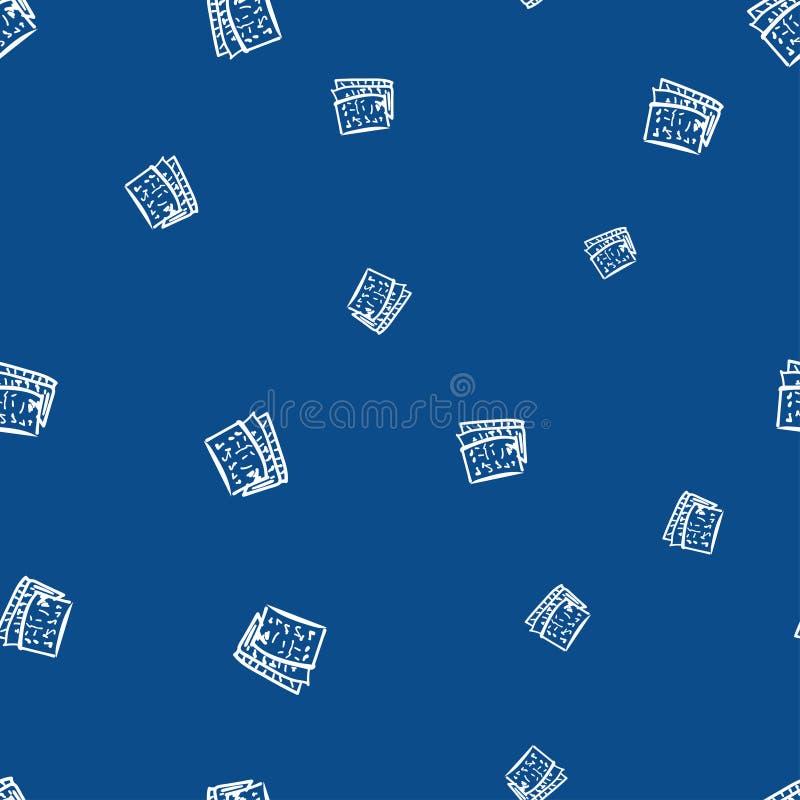 Άνευ ραφής σχέδιο που αποτελείται από τις σημειώσεις για ένα φύλλο του εγγράφου απεικόνιση αποθεμάτων