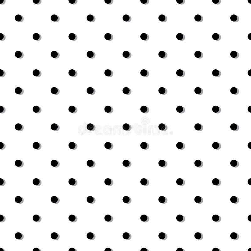 Άνευ ραφής σχέδιο σημείων Πόλκα, μαύρα και γκρίζα χρώματα r διανυσματική απεικόνιση