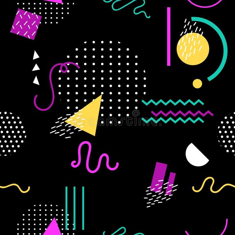 Άνευ ραφής σχέδιο της Μέμφιδας των γεωμετρικών μορφών για τις κάρτες απεικόνιση αποθεμάτων