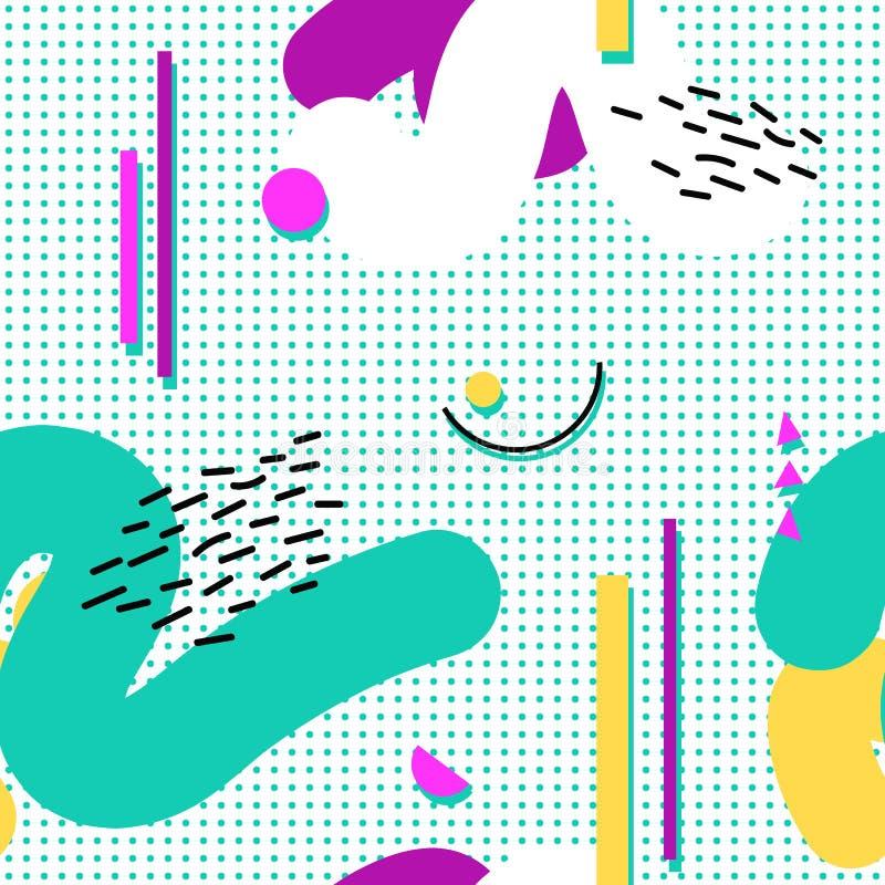 Άνευ ραφής σχέδιο της Μέμφιδας των γεωμετρικών μορφών απεικόνιση αποθεμάτων