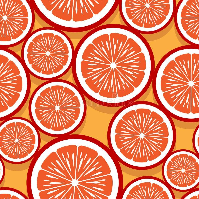 Άνευ ραφής σχέδιο της πορτοκαλιάς γραφικής παράστασης φετών φρούτων στοκ φωτογραφίες