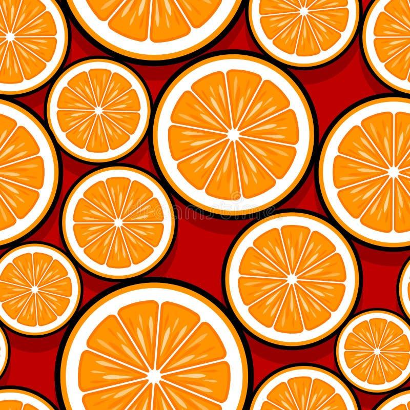Άνευ ραφής σχέδιο της πορτοκαλιάς γραφικής παράστασης φετών φρούτων στοκ φωτογραφίες με δικαίωμα ελεύθερης χρήσης