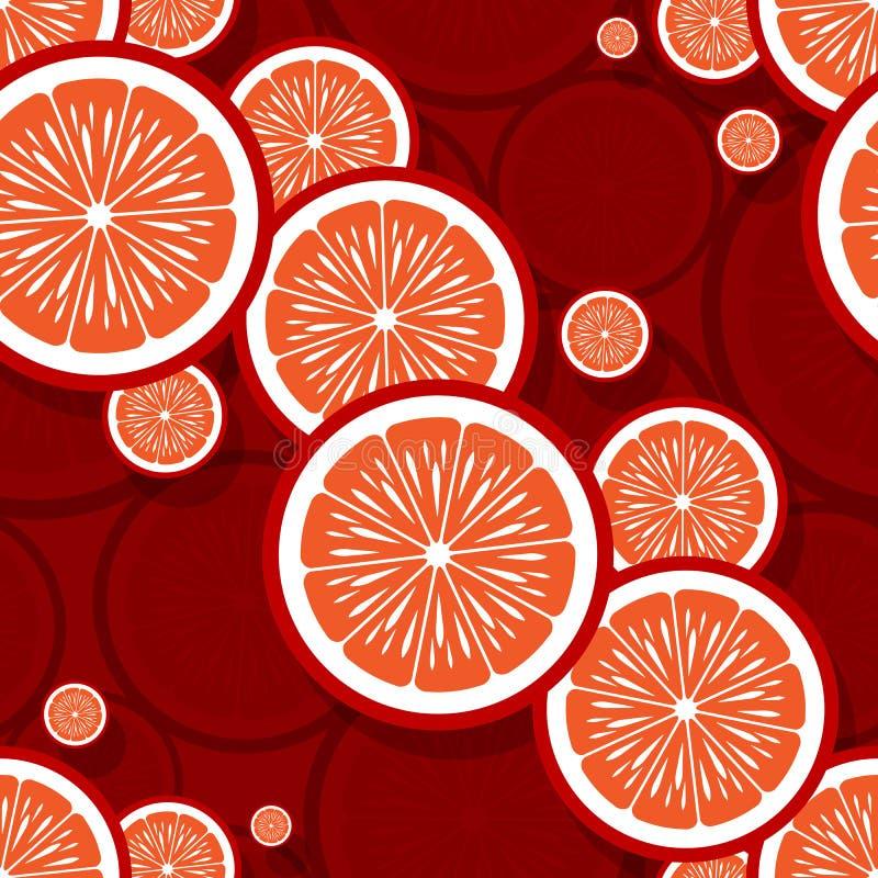 Άνευ ραφής σχέδιο της πορτοκαλιάς γραφικής παράστασης φετών φρούτων στοκ φωτογραφία με δικαίωμα ελεύθερης χρήσης