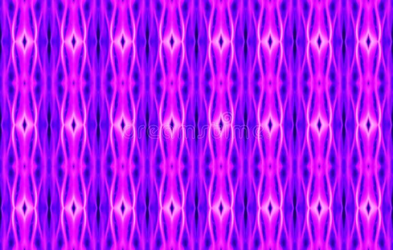 Άνευ ραφής σχέδιο της ρόδινης, πορφυρής και μαύρης αφηρημένης γεωμετρικής EL διανυσματική απεικόνιση