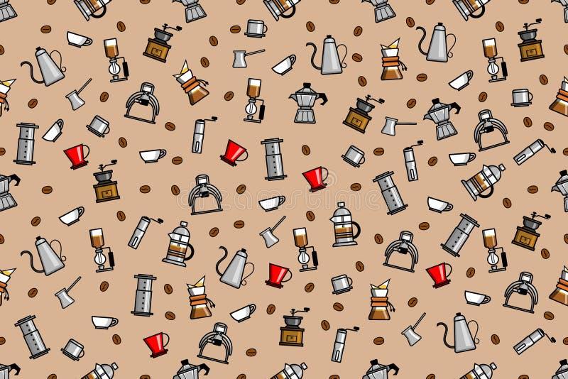 Άνευ ραφής σχέδιο του ζυθοποιού καφέ διανυσματική απεικόνιση
