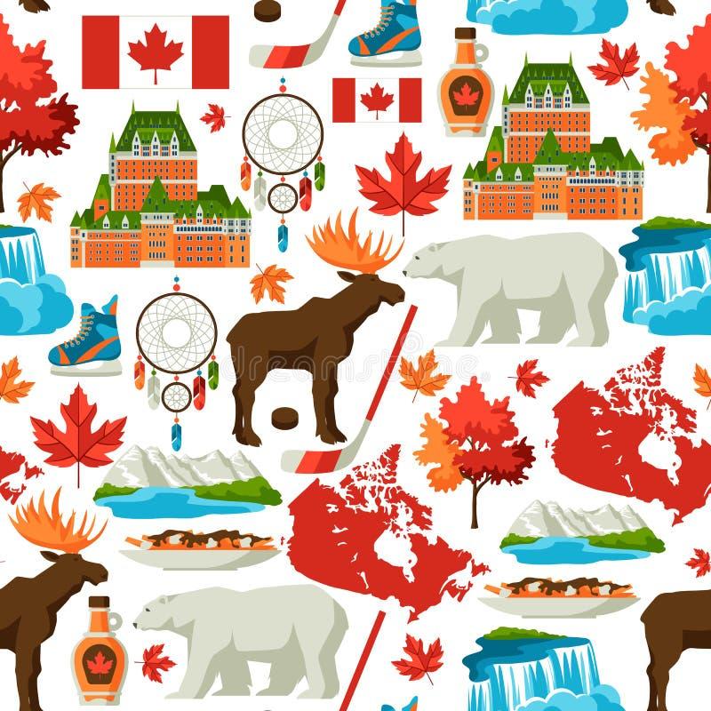 Άνευ ραφής σχέδιο του Καναδά διανυσματική απεικόνιση
