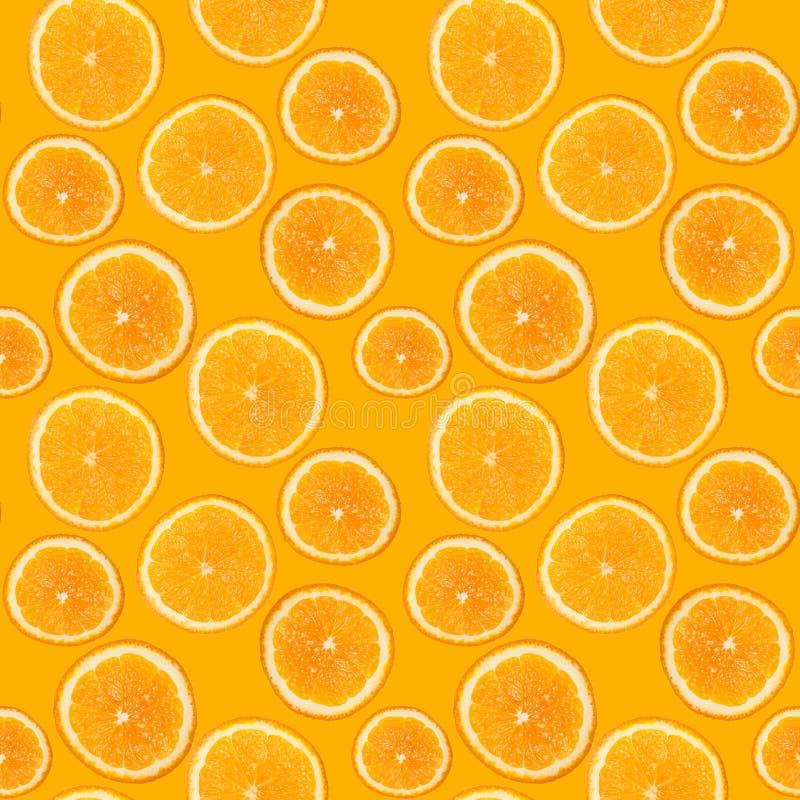 Άνευ ραφής σχέδιο του φρέσκου πορτοκαλιού στοκ εικόνα