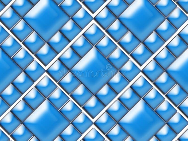 Άνευ ραφής σχέδιο το διακοσμητικό μπλε που τακτοποιείται με στοκ εικόνα με δικαίωμα ελεύθερης χρήσης